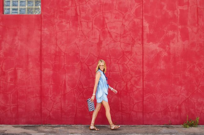 Chambray top Lyndsey Red Wall Heights - 18